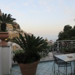 Our Terrace overlooking Positano and the sea