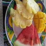 fresh fruit platter served with every breakfast