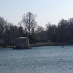 Pavillion in the middle of Carp Pond