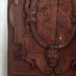 Wooden carved doors in hallways