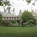 The royal pavilion from a distance.