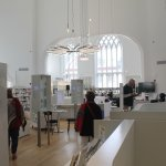 Old Quebec City church finds new life as a library (inside view.)