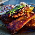 HOISIN GLAZED PORK RIBS