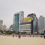 Haeundae Beach on a cloudy afternoon