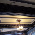 The ceiling of the dinning room