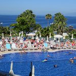 Beautiful views from the heated pool at the Hovima Costa Adeje hotel.