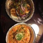 Caprese salad and Crawfish Etoufee