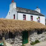 Church Farm with re-thatching Manx style