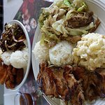Bbq chicken n kalua pork n