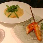 Risotto aux pinces de grabe,langouste et sauce aji amarillo