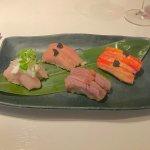 Toro sushi caviar,king grabe sushi caviar,seriole sushi mousse de yuzu et wagyu sushi...