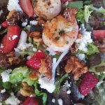 MAUI ONION, WALNUT & FETA Upcountry mixed greens, Kula strawberries, candied walnuts, papaya see