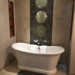 Fabulous bathroom with free standing bath