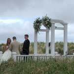 Vows under the arch.
