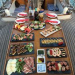 Our 'Gourmet' tapas menu available as an option for the 3 hour sunset tour