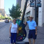 Giant Guitar on the sidewalk
