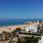 Woke up to this and miss it dearly. The Praia da Rocha is a stunning beach.