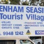 Entrance Sign Denham Seaside Tourist Village