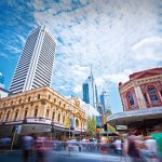 St Georges Terrace Perth - photo courtesy of Tourism WA