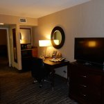The separate suite with TV and mini-fridge