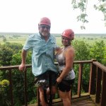 Zip lining with my hubby!