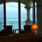 View from living room toward balcony & beach