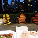 Dinner on the roof top terrace