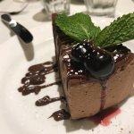Torte di Zabaglione e Cioccolato with cherry sauce YUM!