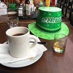 Coffee and lots of jameson's irish whisky