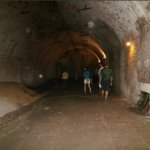 immense tunnels used for storage & refrigeration-cooling of the beer barrels