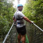 walking through the rainforest on one of the hanging bridges!
