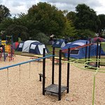 Our tenting space, great for the kids.