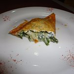 some version of spanakopita with melted cheese inside – just OK