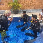 Learning the basics of Diving in a safe confined space