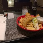 Room service fish and chips