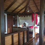 Bed in Balinese cabin