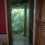 Open shower in Balinese Cabin