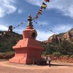 Prayer flags and stupa