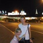 Очень красивый ночной Кремль, фото от Дворца Земледельцев