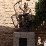 Statue outside King David's Tomb