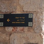 King David's Tomb - sign