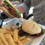 Now, THAT's a burger!! Great chips too.