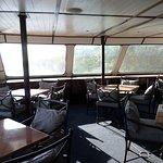 Inside the cruise boat, beautiful!!