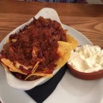 Nachos with chilli to share - just amazing!