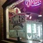 front window at Kimmer's Ice Cream
