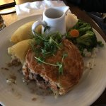 The beef pie so flaky and savory! And the Welsh lamb caul, I could tell it had been slow-cooked.