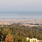 View of the Old City of Thessaloniki and the Port on the Aegean Sea