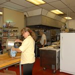 Flora in the kitchen,making deserts,Torta di nona.