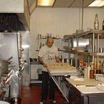 Branco the chef making bread