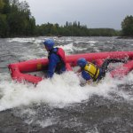 Our rubber canoe on trips i Tångböleströmmarna